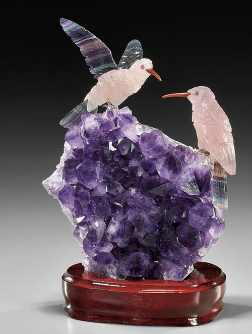 Beauty will save birds carved from precious stones by