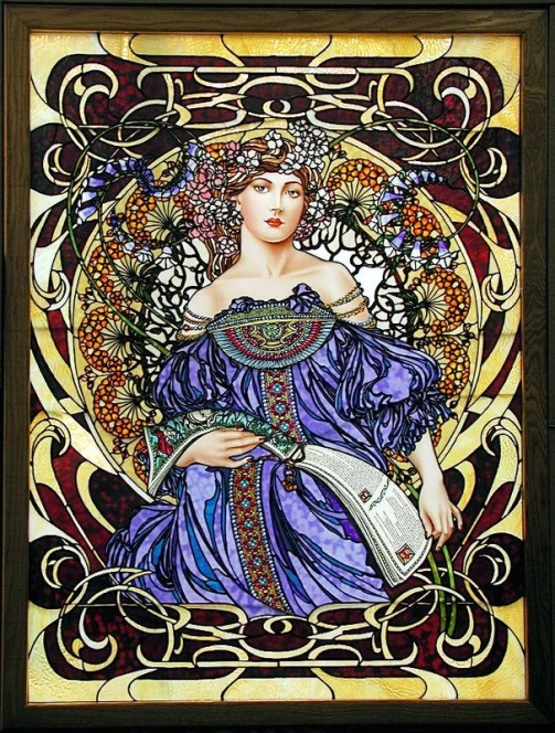 Stained glass work by Bogenrief Studios