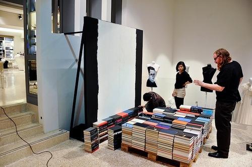 Mike Stilkey's Book installation