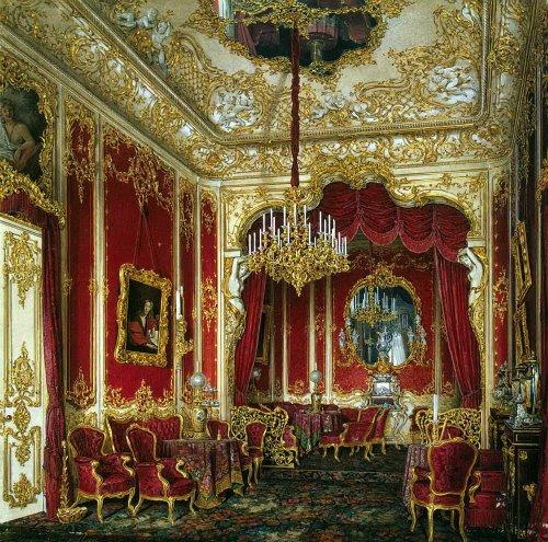 Boudoir of Empress Maria Alexandrovna. Hermitage. Artist Eduard Hau
