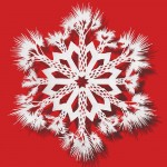 Palm Tree Snowflake. Paper art by Chinese artist Bovey Lee