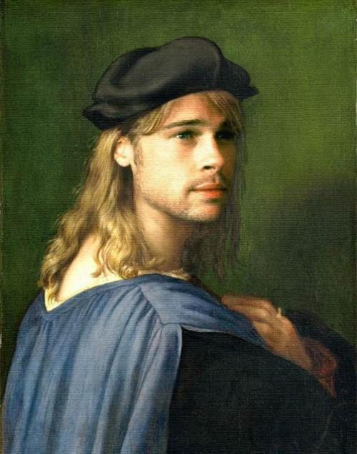 Paintings of Modern Day Celebrities Brad Pitt