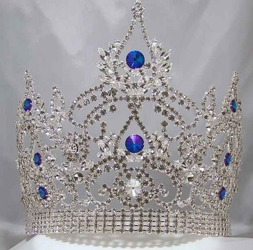 Continental Premium Gold Crown Tiara. Bridal Tiara decorated with Swarovski Crystals