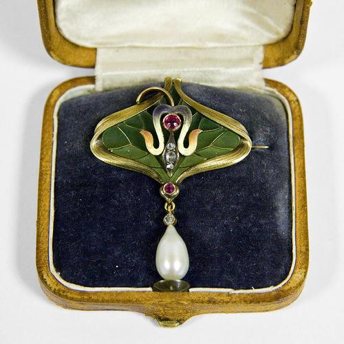 "Brooch The leaf. Beautiful jewelry by St. Petersburg true style ""Catherine Kostrigina"""