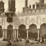 Al-Azhar Mosque of al-Azhar in Cairo. Egypt in retro photographs of 1870