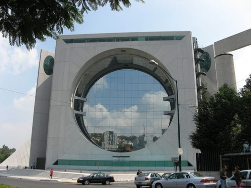 Calakmul building - a building in a giant washing machine in Mexico