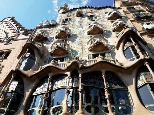 Casa Batllo of Antoni Gaudi in Barcelona