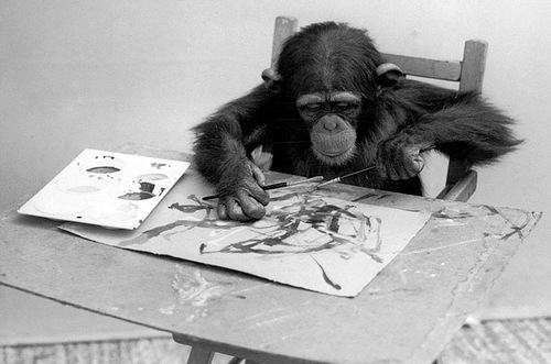 Chimpanzee Congo. The cost of painting: $ 900-8500