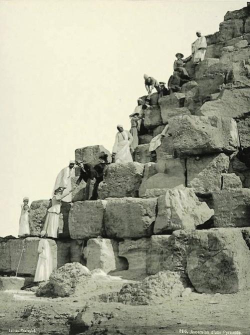 Climbing the pyramid. Egypt in retro photographs of 1870