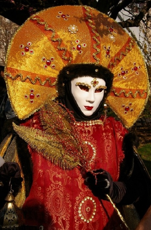 Carnival of Venice first prize winner 2012. Costume and masks at Carnival of Venice
