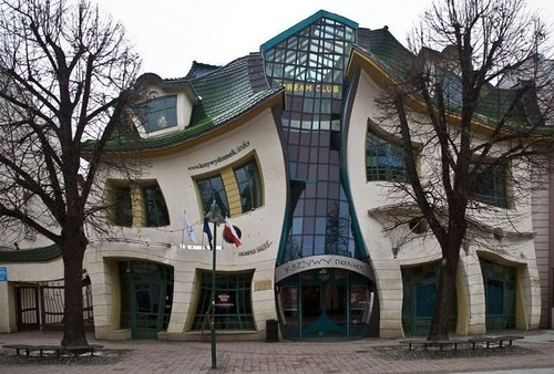 Curved house in Polish city of Sopot