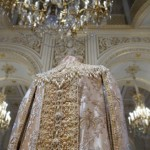 Decorated with pearls costume, Hermitage, St. Petersburg. Traditionally, this stone decorate royal clothes