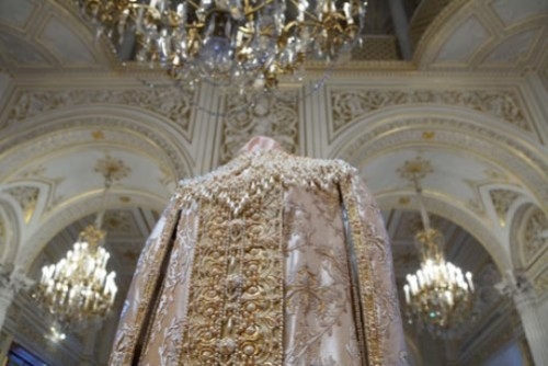 Decorated with most famous pearls costume, Hermitage, St. Petersburg