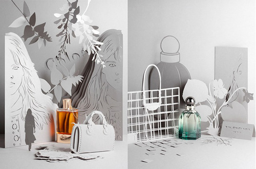 Detailed papercraft by French stylist and set designer Sabrina Transiskus