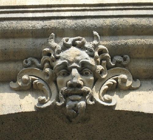 Details of La belle epoque architecture in St. Petersburg, Russia
