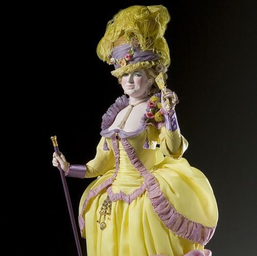 Duchess Yolande de Polignac. French Historical Figures by American artist George S. Stuart
