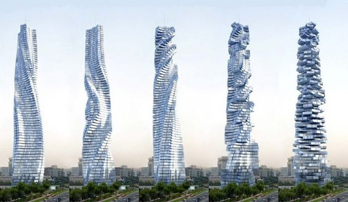 Dynamic Tower in Dubai. Architecture aims at Eternity