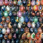 Detail of beautiful Egg Mosaics by Ukrainian artist Oksana Mas
