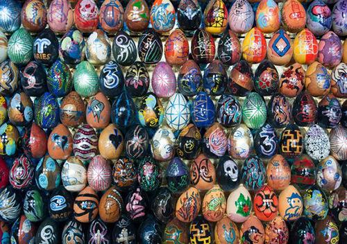 Egg Mosaics by Ukrainian artist Oksana Mas