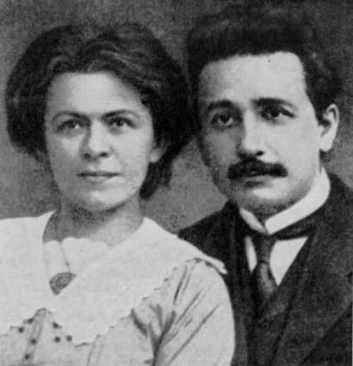 Einstein and his first wife, Mileva Maric (c. 1905). Albert Einstein's complete archive