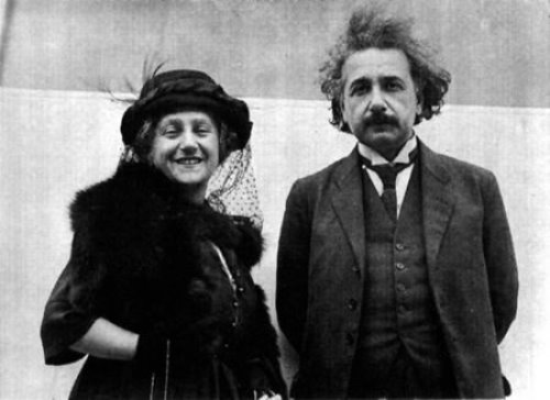 Elsa and Albert Einstein. Albert Einstein's complete archive