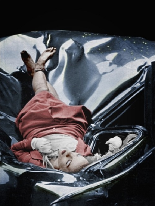 Evelyn McHale suicide, after jumping off the Empire State Building, NYC, 1947