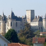 Family castle of La Rochefoucauld (Charente)