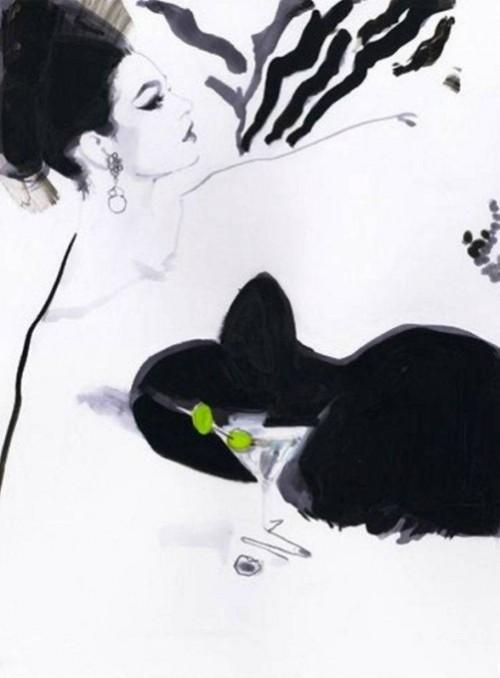 Fashion illustration by British artist David Downton