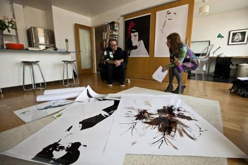 British artist David Downton