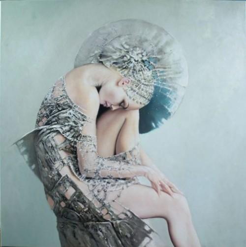 Female beauty in paintings by Polish artist Karol Bak
