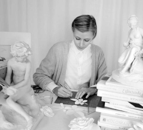 French stylist and set designer, beautiful artist Sabrina Transiskus