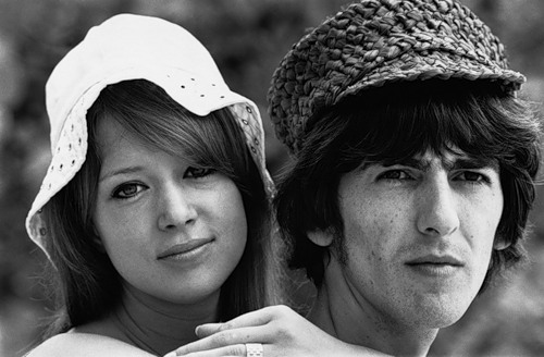 George Harrison of The Beatles and his wife Patti