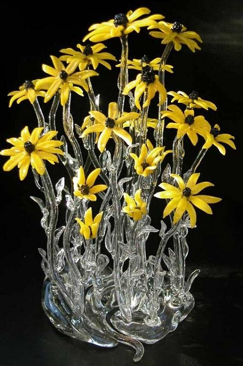 Glass art by Ronnie Hughes