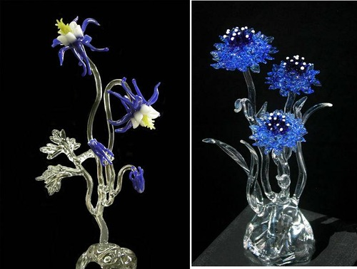 Glass art by Ronnie Hughes