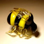 Bee. Glass insect sculptures by American artist Wesley Fleming
