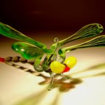 Dragonfly. Glass insect sculptures by American artist Wesley Fleming