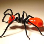 Ant. Glass insect sculptures by American artist Wesley Fleming