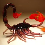 Scorpio. Glass insect sculptures by American artist Wesley Fleming