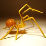 Red ant. Glass insect sculptures by American artist Wesley Fleming