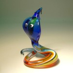 Cobra. Glass insect sculptures by American artist Wesley Fleming