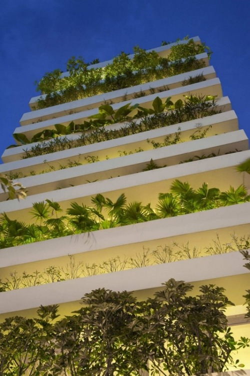 The energy saving Green House in Vietnam designed by architects Vo Trong Nghia, Daisuke Sanuki, Nishizawa Shunri