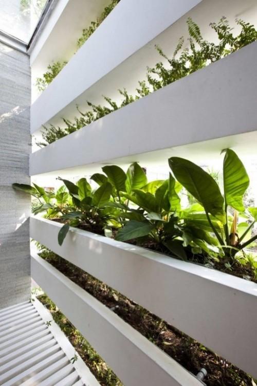 The energy saving Green House designed by architects Vo Trong Nghia, Daisuke Sanuki, Nishizawa Shunri in Vietnam