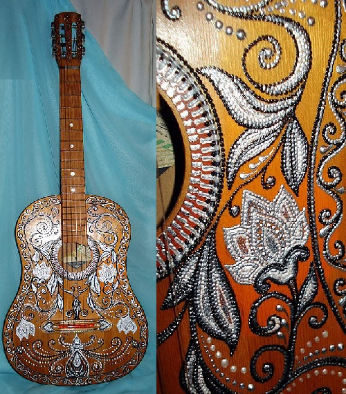 Guitar inspired by a romantic and noble hero - Zorro