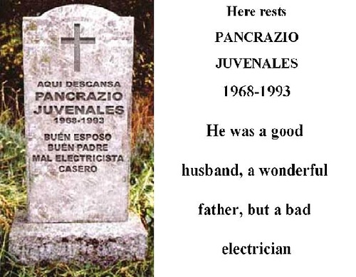 He was a good husband, a wonderful father, but a bad electrician