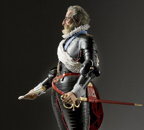 Henry IV. French Historical Figures by American artist George S. Stuart