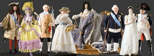 Historical Figures by George Stuart. French Historical Figures by American artist George S. Stuart