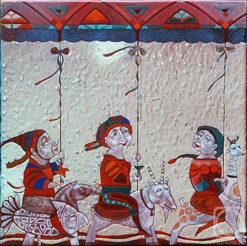 Hot enamel work by Russian artist Tatiana Sipovich