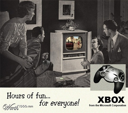 Hours of fun from Microsoft corporation. Absurd Vintage Ads
