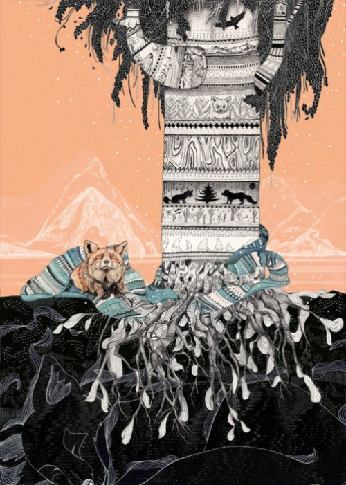 "Cheltenham Illustration Awards 2011. ""Fox Tree"". Sandra Dieckmann illustrations"
