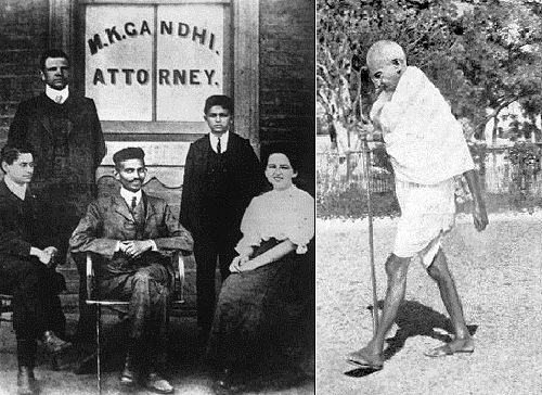 In 1922, when he was 47 years, Gandhi was arrested by the British police, who accused him of conspiring and trying to overthrow the government